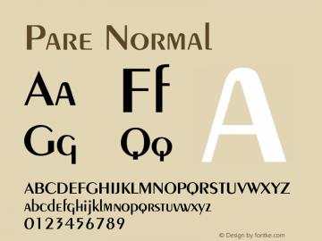 PareNormal Altsys Fontographer 4.1 1/9/95 {DfLp-URBC-66E7-7FBL-FXFA}图片样张