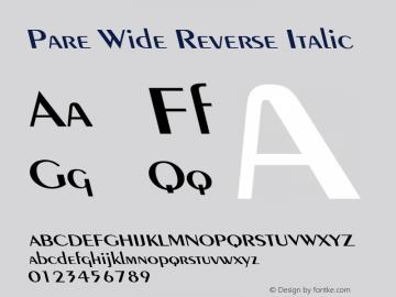PareWideReverseItalic Altsys Fontographer 4.1 1/9/95 {DfLp-URBC-66E7-7FBL-FXFA}图片样张