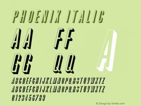 PhoenixItalic Altsys Fontographer 4.1 2/2/95 {DfLp-URBC-66E7-7FBL-FXFA}图片样张