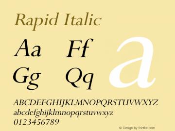 RapidItalic Altsys Fontographer 4.1 1/9/95 {DfLp-URBC-66E7-7FBL-FXFA}图片样张