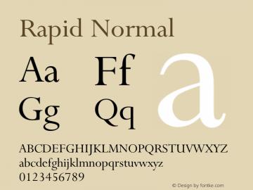 RapidNormal Altsys Fontographer 4.1 1/9/95 {DfLp-URBC-66E7-7FBL-FXFA}图片样张