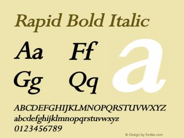 RapidBoldItalic Altsys Fontographer 4.1 1/9/95 {DfLp-URBC-66E7-7FBL-FXFA}图片样张