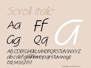 ScrollItalic Altsys Fontographer 4.1 2/2/95 {DfLp-URBC-66E7-7FBL-FXFA}图片样张