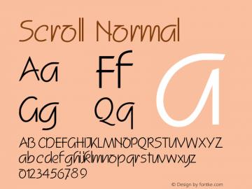 ScrollNormal Altsys Fontographer 4.1 2/2/95 {DfLp-URBC-66E7-7FBL-FXFA}图片样张