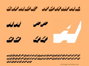 ShadeNormal 1.0 Wed Jul 28 18:37:17 1993 {DfLp-URBC-66E7-7FBL-FXFA}图片样张