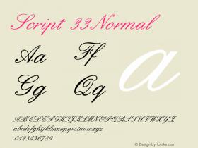 Script33Normal 1.0 Tue Oct 30 09:48:14 2001 {DfLp-URBC-66E7-7FBL-FXFA}图片样张