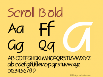 ScrollBold Altsys Fontographer 4.1 2/2/95 {DfLp-URBC-66E7-7FBL-FXFA}图片样张