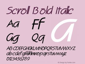 ScrollBoldItalic Altsys Fontographer 4.1 2/2/95 {DfLp-URBC-66E7-7FBL-FXFA}图片样张