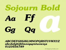 SojournBold Altsys Fontographer 4.1 12/22/94 {DfLp-URBC-66E7-7FBL-FXFA}图片样张