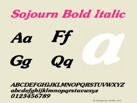 SojournBoldItalic Altsys Fontographer 4.1 12/22/94 {DfLp-URBC-66E7-7FBL-FXFA}图片样张