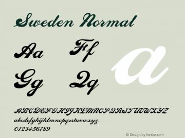 SwedenNormal Altsys Fontographer 4.1 1/10/95 {DfLp-URBC-66E7-7FBL-FXFA}图片样张