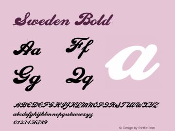SwedenBold Altsys Fontographer 4.1 1/10/95 {DfLp-URBC-66E7-7FBL-FXFA}图片样张