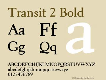 Transit2Bold Altsys Fontographer 4.1 1/10/95 {DfLp-URBC-66E7-7FBL-FXFA}图片样张