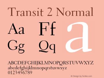 Transit2Normal Altsys Fontographer 4.1 1/10/95 {DfLp-URBC-66E7-7FBL-FXFA}图片样张
