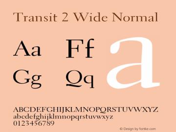 Transit2WideNormal Altsys Fontographer 4.1 1/10/95 {DfLp-URBC-66E7-7FBL-FXFA}图片样张