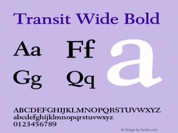 TransitWideBold Altsys Fontographer 4.1 1/10/95 {DfLp-URBC-66E7-7FBL-FXFA}图片样张