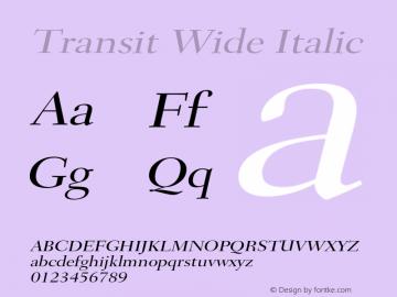 TransitWideItalic Altsys Fontographer 4.1 1/10/95 {DfLp-URBC-66E7-7FBL-FXFA}图片样张