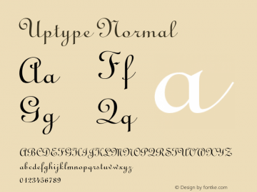 UptypeNormal Altsys Fontographer 4.1 1/10/95 {DfLp-URBC-66E7-7FBL-FXFA}图片样张