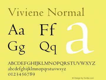 VivieneNormal Altsys Fontographer 4.1 12/22/94 {DfLp-URBC-66E7-7FBL-FXFA}图片样张
