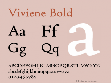 VivieneBold Altsys Fontographer 4.1 12/22/94 {DfLp-URBC-66E7-7FBL-FXFA}图片样张