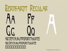 Bernhardt Regular Altsys Fontographer 4.0.3 8/27/97图片样张