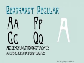 Bernhardt Regular Version 001.000 Font Sample