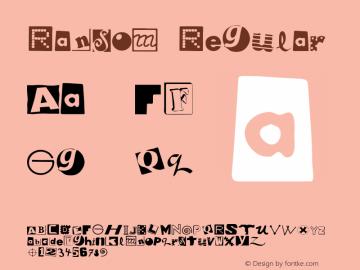 Ransom Macromedia Fontographer 4.1 5/23/96 {DfLp-URBC-66E7-7FBL-FXFA}图片样张