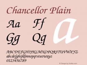 ChancellorPlain Altsys Fontographer 3.3-J99.3.5 {DfLp-URBC-66E7-7FBL-FXFA}图片样张