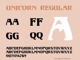 Unicorn Regular Version 1.000;PS 001.001;hotconv 1.0.38 {DfLp-URBC-66E7-7FBL-FXFA}图片样张
