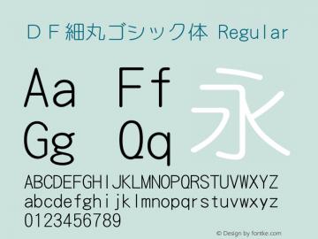 DF細丸ゴシック体 Version 3.120 {DfLp-URBC-66E7-7FBL-FXFA}图片样张
