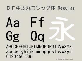 DF中太丸ゴシック体 Version 3.120 {DfLp-URBC-66E7-7FBL-FXFA}图片样张