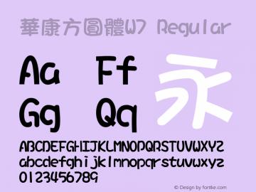 華康方圓體W7 Version 5.000 {DfLp-XBD8-VUE8-FKHQ-5DLM}图片样张