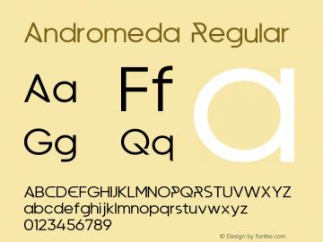 Andromeda Version 1.00;January 22, 2020;FontCreator 12.0.0.2547 64-bit图片样张
