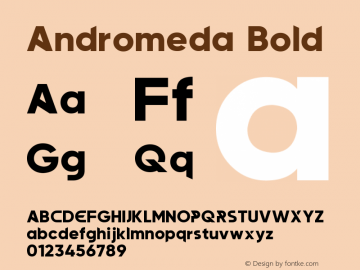 Andromeda Bold Version 1.00;January 22, 2020;FontCreator 12.0.0.2547 64-bit图片样张