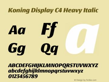 KoningDisplayC4-HeavyItalic 1.000图片样张