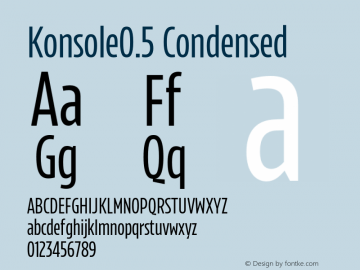 Konsole0.5 Condensed Version 1.000;hotconv 1.0.109;makeotfexe 2.5.65596图片样张