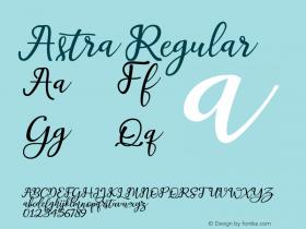 Astra-Regular Version 1.000图片样张