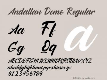 Andallan Demo Version 1.00;January 22, 2020;FontCreator 12.0.0.2535 64-bit图片样张
