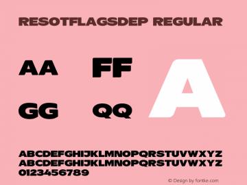 ResotFlagsDEp Version 1.103图片样张