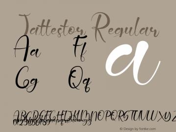 Jattestor Version 1.00;April 24, 2019;FontCreator 11.5.0.2430 64-bit图片样张