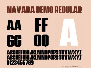 Navada Demo Version 1.00;January 22, 2020;FontCreator 12.0.0.2535 64-bit图片样张