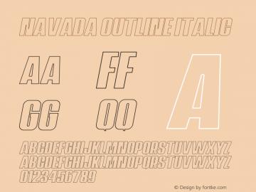 Navada Outline Italic Demo Outline Italic Version 1.00;January 22, 2020;FontCreator 12.0.0.2535 64-bit图片样张