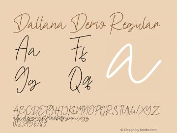 Daltana Demo Version 1.00;February 7, 2020;FontCreator 12.0.0.2535 64-bit图片样张