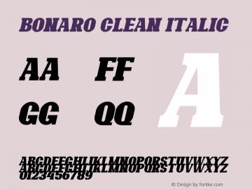 Bonaro Clean Italic Demo Clean Italic Version 1.00;January 22, 2020;FontCreator 12.0.0.2535 64-bit图片样张