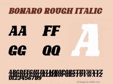 Bonaro Rough Italic Demo Rough Italic Version 1.00;January 22, 2020;FontCreator 12.0.0.2535 64-bit图片样张