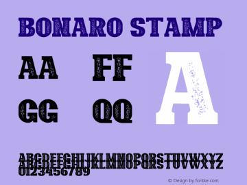 Bonaro Stamp Demo Stamp Version 1.00;January 22, 2020;FontCreator 12.0.0.2535 64-bit图片样张