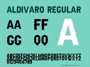Aldivaro Demo Version 1.00;January 22, 2020;FontCreator 12.0.0.2535 64-bit图片样张