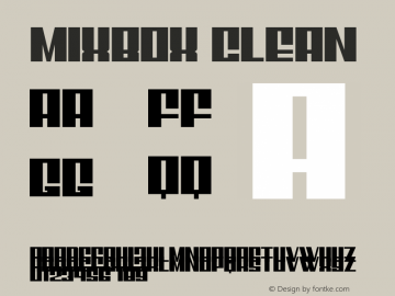 Mixbox Clean Demo Clean Version 1.00;January 22, 2020;FontCreator 12.0.0.2535 64-bit图片样张