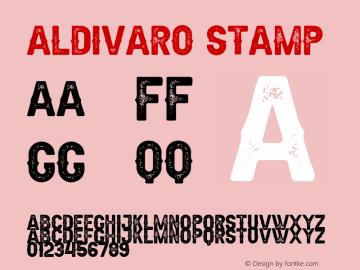 Aldivaro Stamp Demo Stamp Version 1.00;January 22, 2020;FontCreator 12.0.0.2535 64-bit图片样张