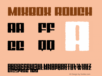 Mixbox Rough Demo Rough Version 1.00;January 22, 2020;FontCreator 12.0.0.2535 64-bit图片样张